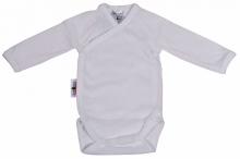 Baby Plus Schröders wrap-bodysuit 1/1 arms white