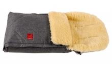 Kaiser Dublas lambskin-footmuff anthracite melange