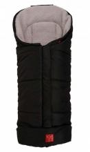 Kaiser Iglu Thermo Wolle Fußsack schwarz/grau