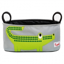 3sprouts bag for prams and strollers crocodile