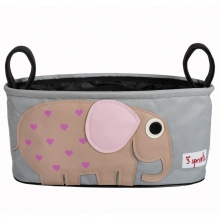 3sprouts bag for prams and strollers elephant