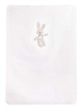 Zöllner cotton blanket with application Kuschelhase white 75x100cm