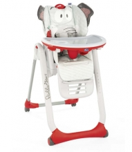 Chicco highchair Polly 2 Start - 4 wheels Baby Elephant