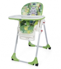 Chicco Hochstuhl Polly Easy mit 4 Rollen Happy Jungle