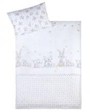 Zöllner Bettwäsche Häschen und Eule 100x135cm