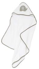 Alvi hooded towel terry cloth application elephant 90x90