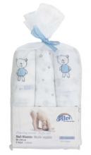 Alvi burp cloth best friends blue 3 piec. 80x80
