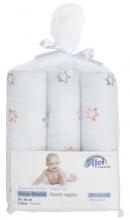Alvi molleton-diapers printed colourful star 3 piec. 80x80