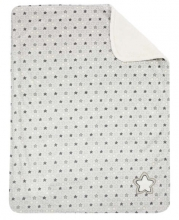 Alvi microfiber baby blanket with application stars+little stars grey-beige 75x100