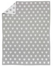 Alvi Strickdecke Stars silber 75x100