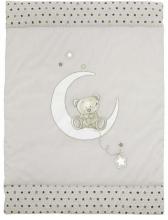 Alvi Krabbeldecke mit Applikation Stern und Sternchen grau-beige 100x135