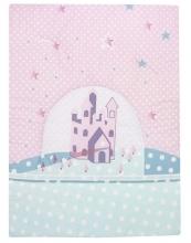Alvi Krabbeldecke Sternenschloss rosa 100x135