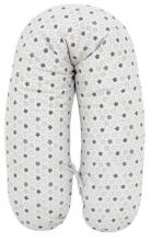 Alvi Stillkissen mit Bezug Stern+Sternchen grau-beige 190cm