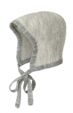 Disana knitted hood grey-natural melange size 0