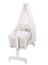 Alvi swing-cradle Sina white complete-set cats rose