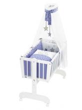 Alvi swing-cradle Sina white complete-set bear-kids blue