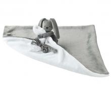 Nattou Lapidou-Kuscheltuch Decke anthrazit/weiß