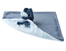 Nattou Lapidou-Kuscheltuch Decke marineblau/hellblau
