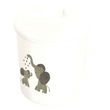 Rotho diaper-bucket Bella Bambina white modern elephants