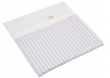 Hartan bedding with logo-embroidery 760 square grey