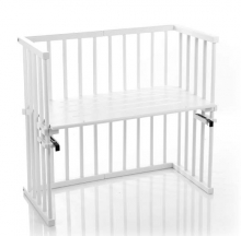 Tobi babybay rollaway bed Midi white lacquered