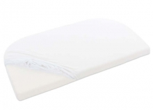 Tobi babybay jersey fitted sheet organic cotton white for Maxi, Midi/Mini, Boxspring and Trend