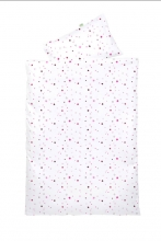 Odenwälder Jersey turning bedding 100x135cm stars pink & black berry