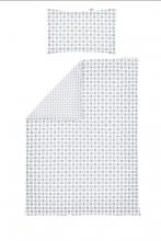 Odenwälder Jersey-Wendebettwäsche 100x135cm Kreise&Tupfen silber