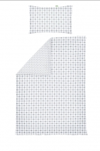 Odenwälder Jersey turning bedding 100x135cm circles&speckles silver