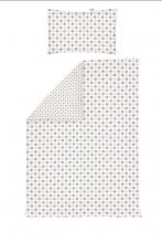 Odenwälder Jersey turning bedding 100x135cm circles&speckles coffee