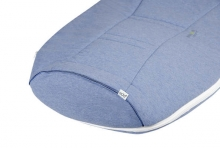 Odenwälder jersey sleeping bag airpoints 110 cm melange blue