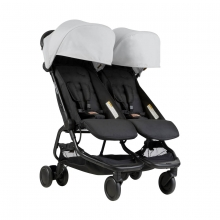 Mountain Buggy Nano Duo silver - Zwillingsbuggy