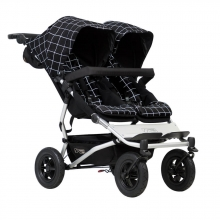 Mountainbuggy Duet V3 grid twin stroller