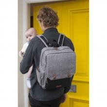 Babymel George Grey-Black diaper bag