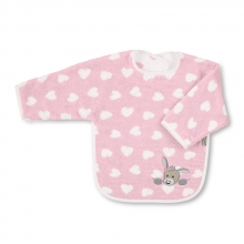 Sterntaler Sleeved bib Emmi Girl rose