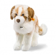 Steiff dog Cookie 38 brown/white