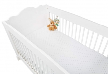 Pinolino cot sheet double pack stars blue and white