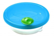 Primamma warming dish bowl with super grip suction base turquoise