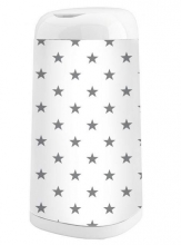 Cover for Angelcare® diaper champ Dress-Up Grey Stars