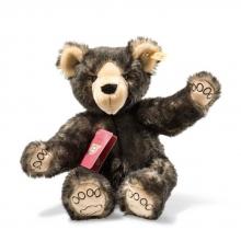Steiff Weltenbummler Tom Teddybär 022135 dunkelbraun 37cm