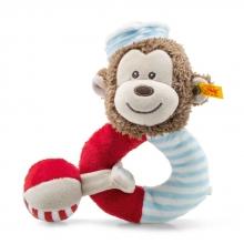 Steiff sailor monkey grip toy with rattle 241482 multicoloured 14cm