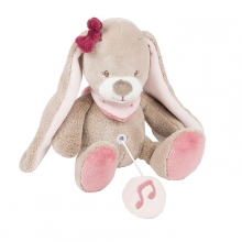 Nattou Jade & Lili mini musical toy Nina the rabbit