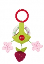 Sigikid 41885 clip rattle ring strawberry
