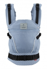 Manduca baby carrier First Belly Button WildCrosses blue