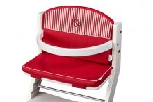 DawOst tiSsi® cushion for high chair red striped