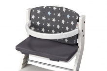 DawOst tiSsi® cushion for high chair grey stars