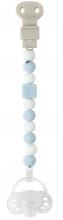 Nattou 879330 Lapidou pacifier chain light blue-white