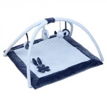 Nattou 879200 Lapidou Krabbeldecke mit Spielbogen blau