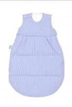 Odenwälder Thermo-Nest® sleeping bag down vichy-karo coll. 19/20 90cm light blue