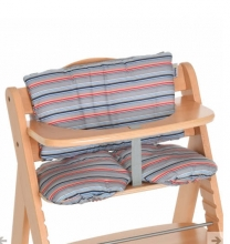 Hauck Highchair pad multi stripe grey